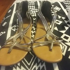 Shoes - Cute zip up back gladiator sandals